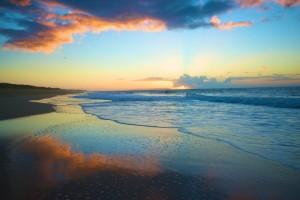 Waipouli Beach Park Sunset