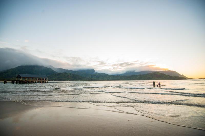 hanalei bay kauai pier