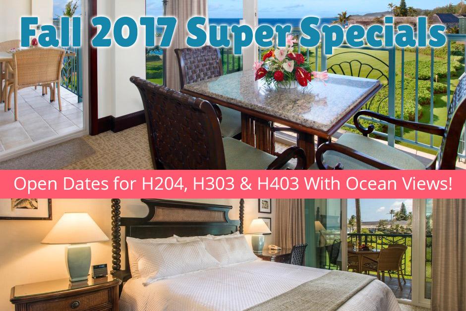 kauai accommodation specials