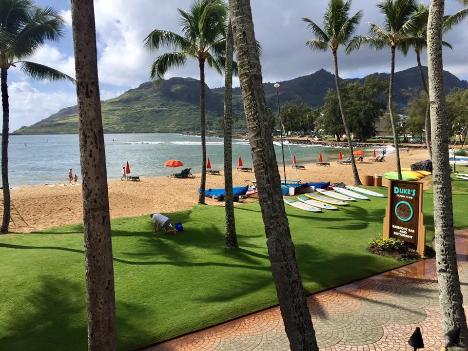 Ocean view from Dukes Restaurant in kauai